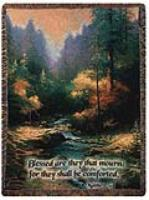 Throw Thomas Kinkade Creekside Trail Folded