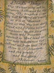 Throw Lord's Prayer Folded
