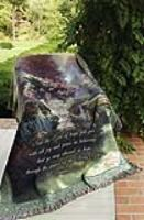 Throw Thomas Kinkade The Garden of Hope Easel