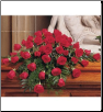 Casket Spray Blooming Red Roses