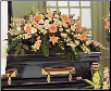 Casket Spray Peach Comfort