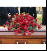 Casket Spray Red Regards