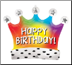 Birthday Crown Balloon
