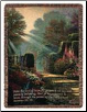 Throw Thomas Kinkade The Garden of Grace Folded